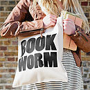 'Book Worm' Tote Bag