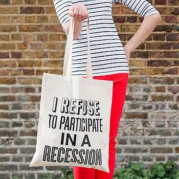 'Recession' Tote Bag
