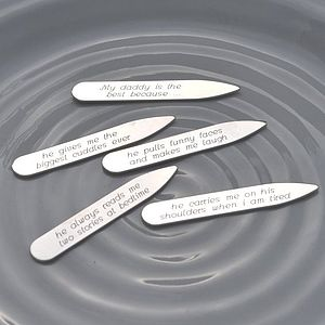 Best Daddy Silver Collar Stiffeners - men's jewellery