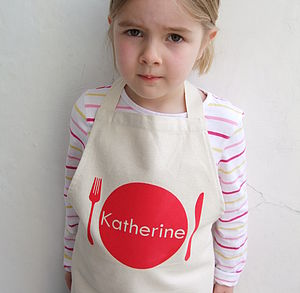 Child's Personalised Apron - kitchen