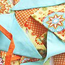 Cotton Fabric Bunting 'Sun Burst'