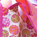 Cotton Fabric Bunting 'Dotty Coral Crush'