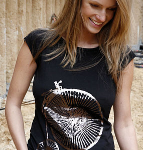 Penny Farthing Hand Printed Bamboo T Shirt