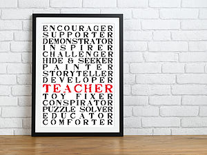 A Teacher Is Everything Print - gifts for teachers