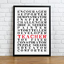 A Teacher Is Everything Print