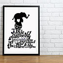 Circus Elephant On Ball Print - Black & White