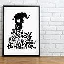Circus Elephant On Ball Print - Black & White