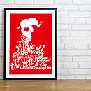 Circus Elephant Print - Red