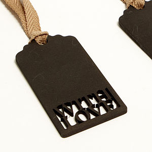 With Love Blackboard Gift Tag - finishing touches