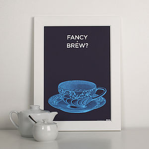 Personalised Tea Lover Print - pictures, prints & paintings