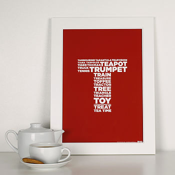 PERSONALISED LETTER 'T' PRINT
