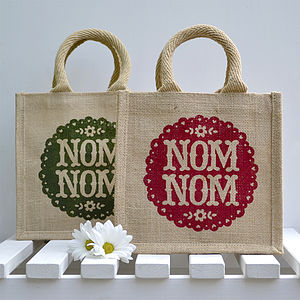 'Nom Nom' Lunch Bag - picnics & barbecues