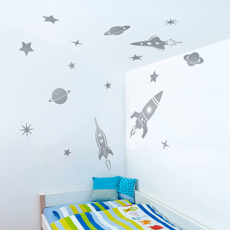 Space Rockets Wall Sticker Set Part 67