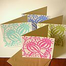 Set Of Eight Poppy Seed Note Cards