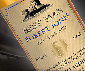 Personalised Bottle Of Single Malt Whisky