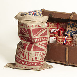 Red Union Jack Gift Sack - stockings & sacks