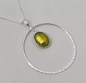 Murano Glass & Sterling Silver Circle Pendant