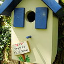 Personalised Handcrafted Gite Bird House
