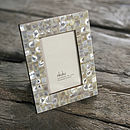 Fair Trade Mother of Pearl Photo Frame