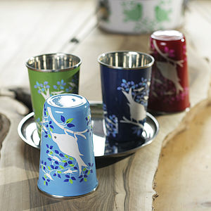 Hand Painted Enamel Cup - tableware