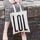 'LOL' Tote Bag