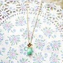 Turquoise Flower Charm Necklace Or Bracelet