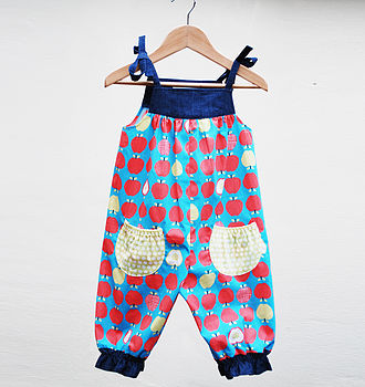 Girl's Organic Apple Play Suit