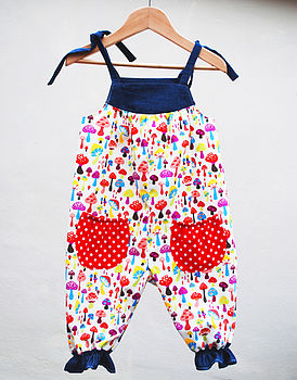 Girl's Toadstool Play Suit