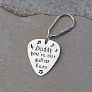 Personalised Silver Plectrum Key Ring