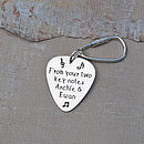 Personalised Silver Plectrum Keyring