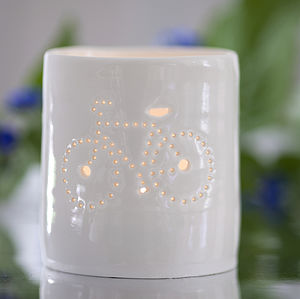 Porcelain Bicycle Tealight - candles & candle holders
