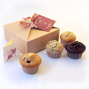 Four Muffins In A Box - cakes & sweet treats