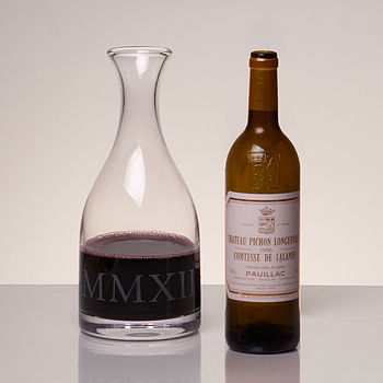 Magnum Glass Carafe Engraved With MMXII