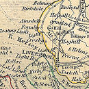 Bespoke News Of Your Home's History Print - map detail