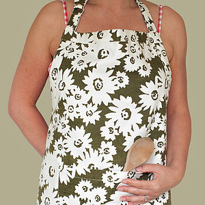 Daisy Design Cotton Apron