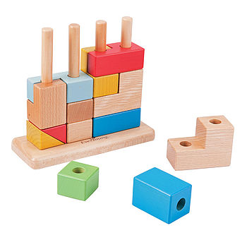 3D Wooden Stacking Puzzle