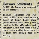 Bespoke News Of Your Home's History Print - residents detail