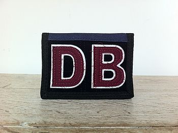 Personalised Navy Wallet