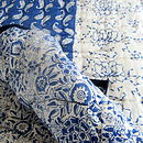 Block Printed Blue Rajastani Quilt King Size