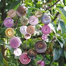 Heart Shaped Button Garden Hanger