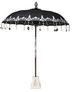 Black Narcissus Garden Umbrella - parasols & windbreaks