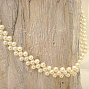 White Pearl Band Necklace And Bracelet Set