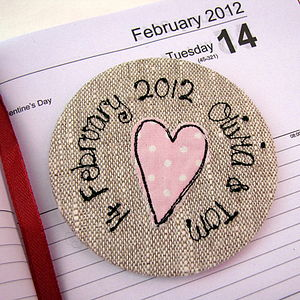 Personalised Handbag Mirrors - Great Dates - wedding favours