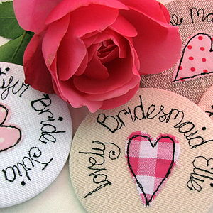 Personalised Wedding Mirrors - bridesmaid gifts