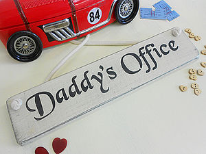 Birthday Gift Personalised Office Study Sign