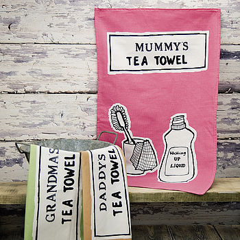Personalised Printed Tea Towel