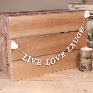 Live Love Laugh Garland - decorative accessories
