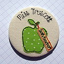 Green Spotty Apple - Teacher Personalised Gift