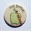 Green Plain Apple - Teacher Personalised Gift