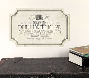 'Top Dad' Fabric Wall Sticker Sign - pictures, prints & paintings